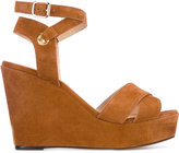 Tila March Cancun wedge sandals - women - Leather/Goat Suede - 36