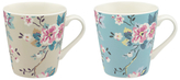 Cath Kidston Trailing Rose Mugs, 475ml, Assorted, Set of 2