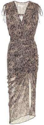 Veronica Beard Teagan printed silk midi dress