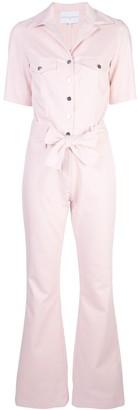 Carolina Ritzler tie waist boiler suit