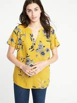 Old Navy Lightweight Floral-Printed Top for Women