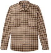 A.p.c. - Checked Wool-blend Flannel Overshirt
