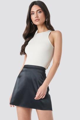 NA-KD Satin Mini Skirt Black