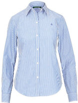 Ralph Lauren Monogram Striped Cotton Shirt