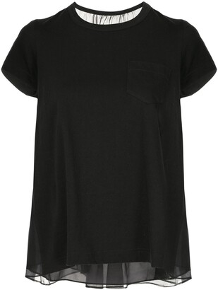 Sacai Embroidered Lace T-Shirt