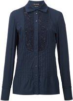 Yigal Azrouel lace inset shirt - women - Cotton/Polyamide/Spandex/Elastane - 4