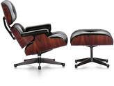 Vitra LCH XL Eames Lounge Chair & Ottoman - Santos Palisander/Black