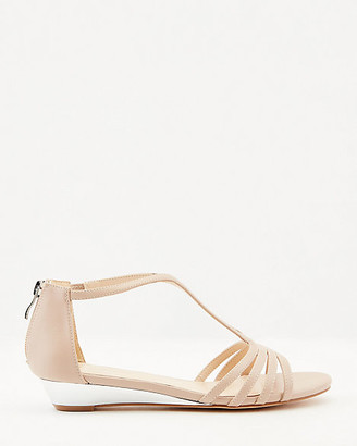 Le Château Faux Leather Strappy Wedge Sandal
