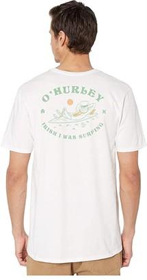 Hurley Irish I Was Surfing Short Sleeve Tee (White) Men's T Shirt