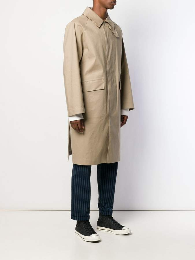 0913cdbea DUNBAR Fawn Bonded Cotton Oversized Coat GR-1005D