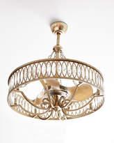 John-Richard Collection Crystal 8-Light Pendant with Fan