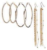 Charlotte Russe Hoop & Beaded Tassel Earrings Set
