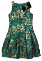 Girl's Satin Brocade Dress