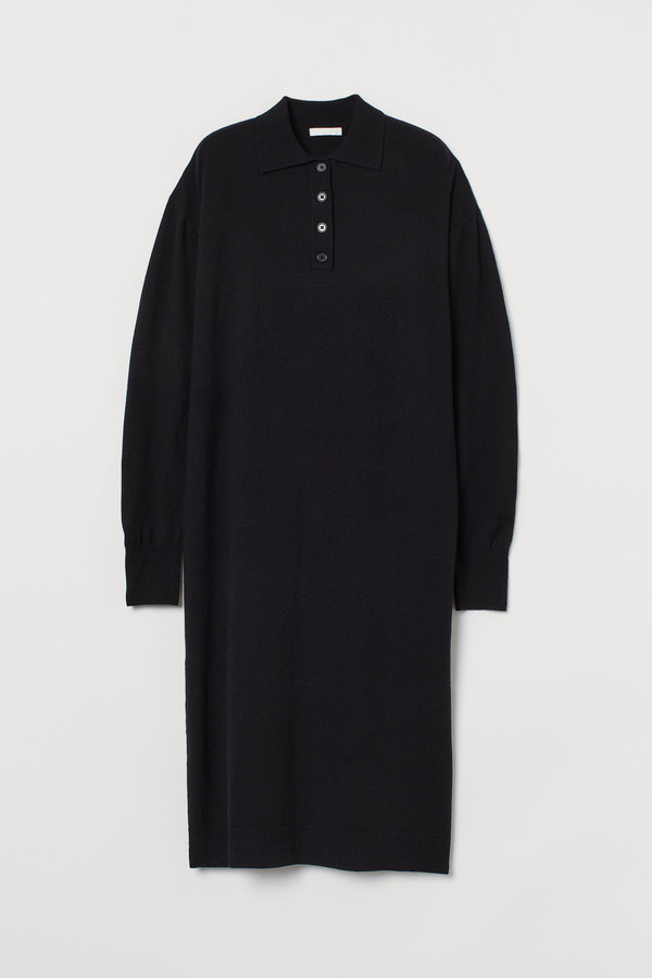 H&M Knitted collared dress