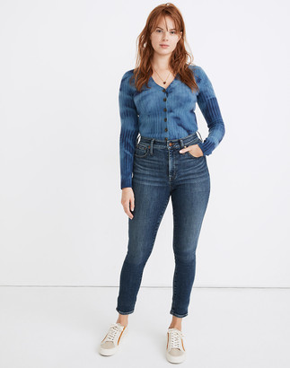 Madewell Petite Curvy High-Rise Skinny Jeans in Cordell Wash: Heatrich Denim Edition