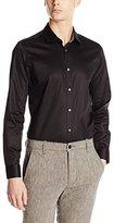Ted Baker Men's Plancuf Long Sleeve Single Cuff Plain Shirt Modern Slim Fit