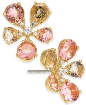 Eliot Danori Cubic Zirconia Flower Stud Earrings, Created for Macy's