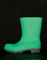 Asos Design DESIGN wellies in glow in the dark grey