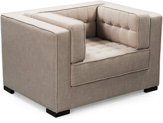 Chic Home Lorenzo Sand Linen Textured Club Chair