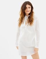 Maison Scotch Home Alone Cotton Voile Shirt Dress