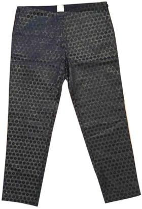 Des Petits Hauts Black Cotton Trousers for Women