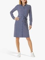 Hobbs Sandrine Geometric Print Mini Dress, Navy/Multi