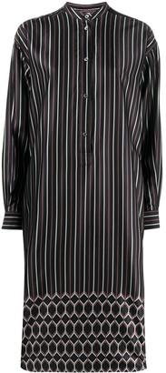 Ports 1961 Striped Silk Shirt Dress
