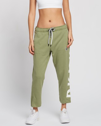 DKNY Cut Off Logo Cropped Slim Fit Joggers