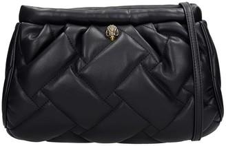 Kurt Geiger Kensignton Clut Shoulder Bag In Black Leather