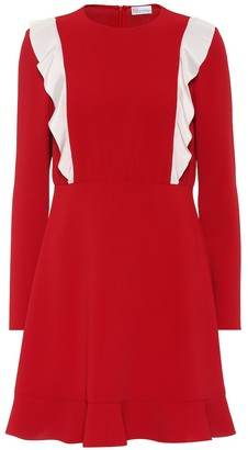 RED Valentino Ruffled crepe dress