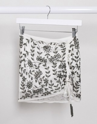 Raga genevieve drawstring skirt in multi