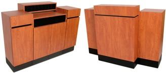 Collins Reve Wild Cherry Standing Reception Desk