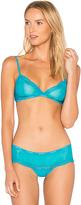 Calvin Klein Underwear ID Sheer Marq Lace Bra in Blue