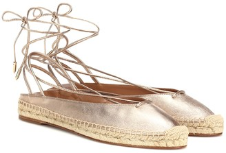 Aquazzura Minimalist leather espadrilles