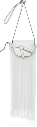 Loewe Mini Gate Fringes Leather Crossbody Bag