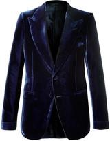 Tom Ford - Navy Shelton Slim-fit Velvet Tuxedo Jacket
