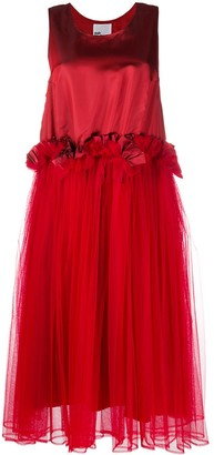 Comme des Garcons Satin And Tulle Flared Dress
