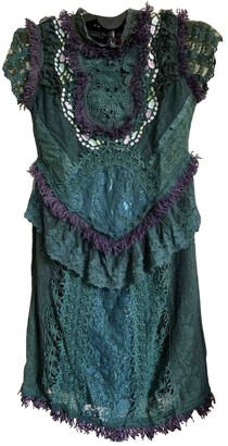 Manoush Green Cotton Dress for Women