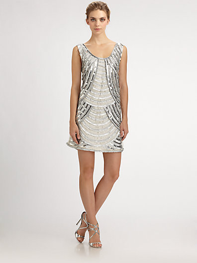 Notte by Marchesa Sequined Dress