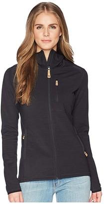 Fjallraven Keb Fleece Hoodie (Dark Grey) Women's Sweatshirt