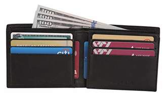 LEATHER ARCHITECT- Men's 100% Leather Bifold wallet with over flap card with window-
