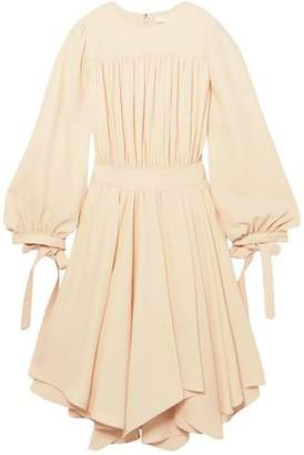 Chloé Asymmetric Gathered Cady Dress