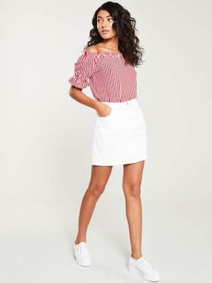 Very Denim Skirt - White