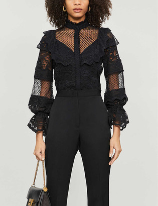 Alexis Dafnie tulle and lace blouse