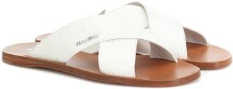 Miu Miu Croc-effect leather sandals