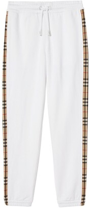 Burberry Check-Stripe Track Pants