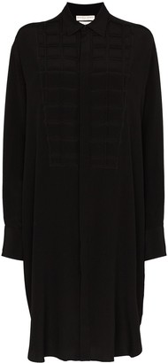 Bottega Veneta Quilted Bib Shirt Dress