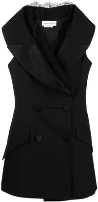 Alexander McQueen Sleeveless Double-Breasted Blazer