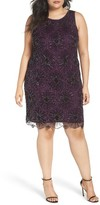 Pisarro Nights Plus Size Women's Floral Motif Embellished Sheath Dress