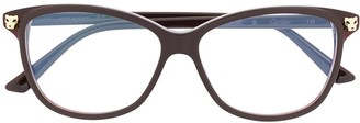 Cartier Panthere round frame optical glasses